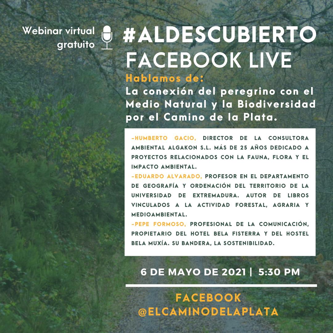 evento en facebook para hablar del medio natural y la biodiversidad por el camino de la plata