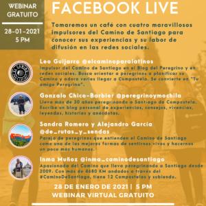 evento virtual con los impulsores del camino de santiago