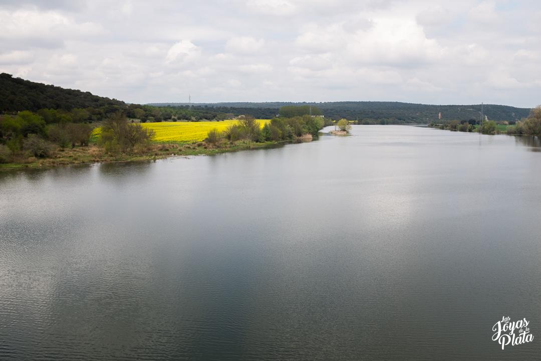paisajes del río Esla por el camino de la plata